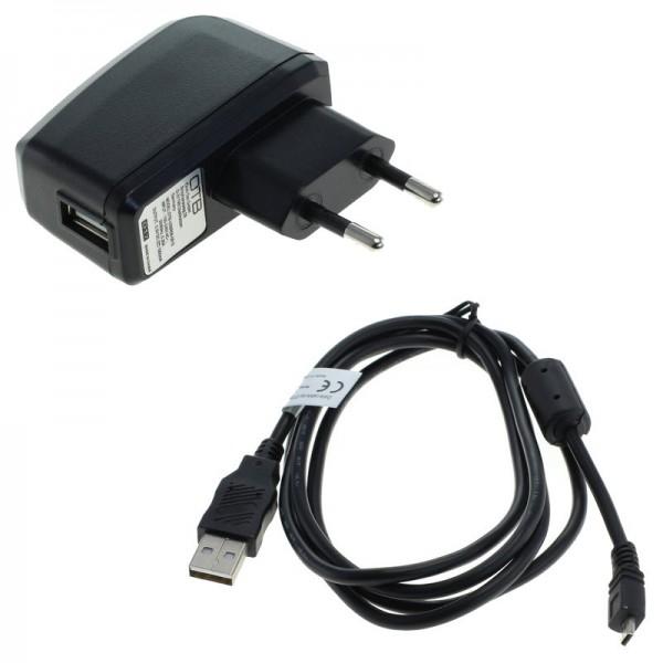 AC adapter + datakabel voor Pentax Optio M50